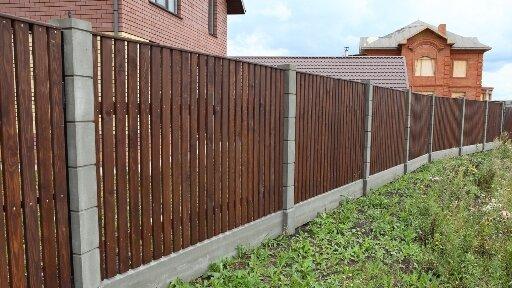 Забор из дерева с наполнением «Стандарт»