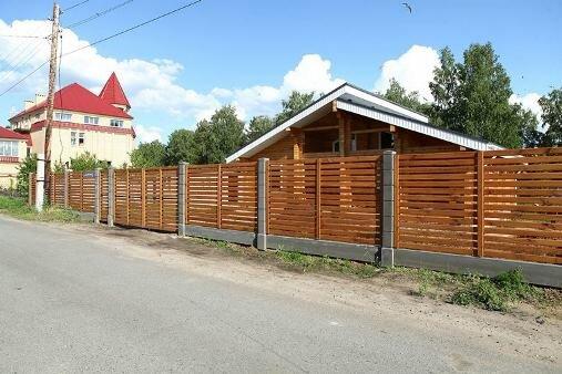 Забор деревянный с секцией «Ранчо»